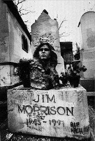 La popular tomba de Jim Morrison