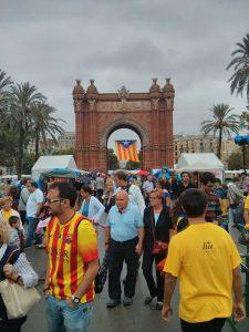 Via catalana arc del triomf