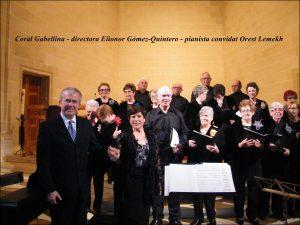 Coral Gabellina i pianista Orest Lemekh