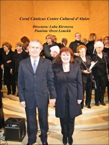 Orest Lemekh i Luba Klevtsova  pianista i directora coral Cánticus