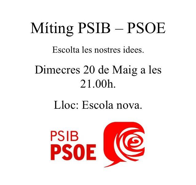 Míting PSIB-PSOE - Sant Llorenç - 20/05/2015
