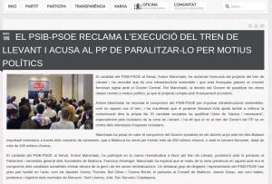 Tren PSOE
