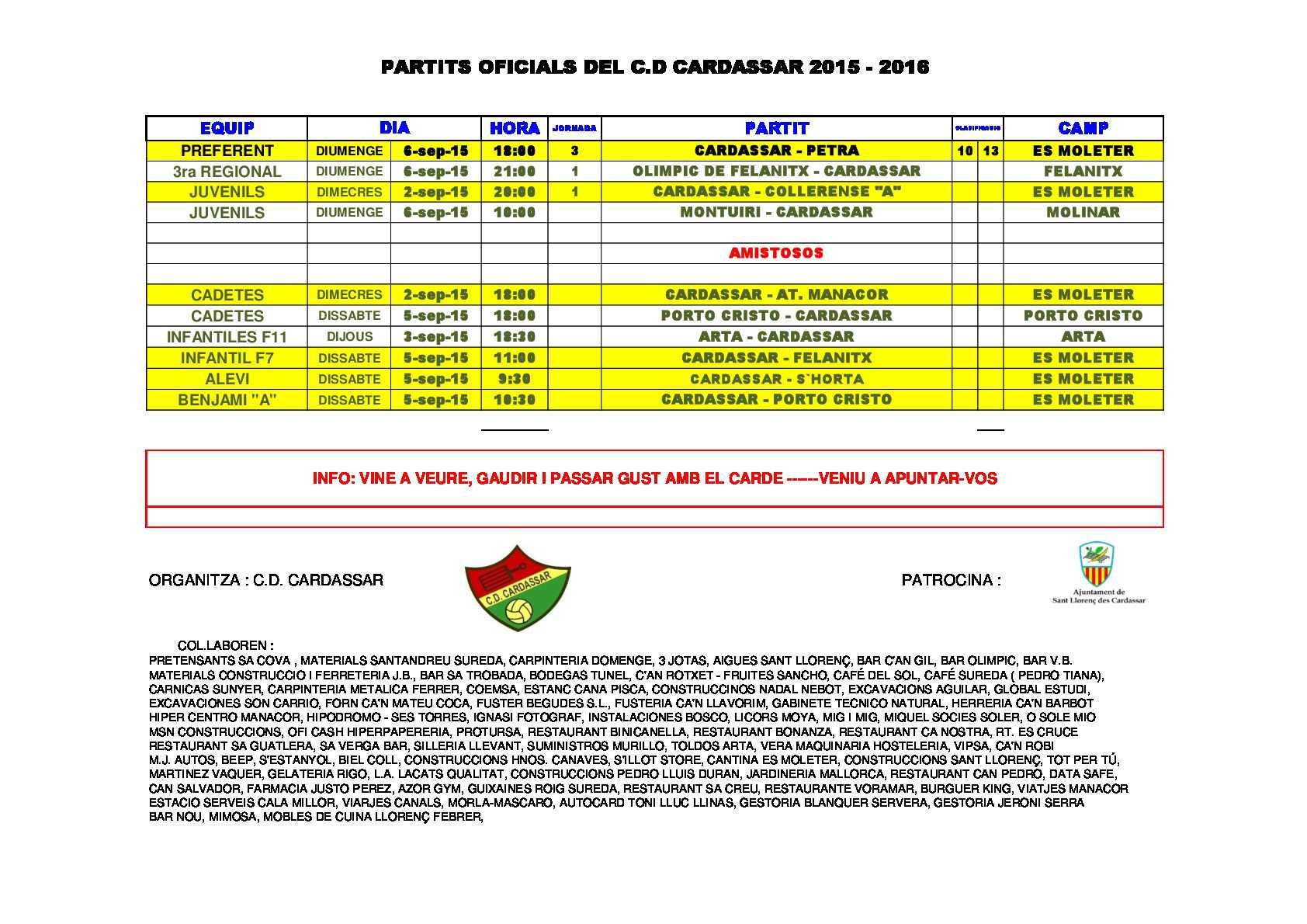 PARTIS OFICIAL - AMISTOSOS CARDE 2015-16 (3)-0