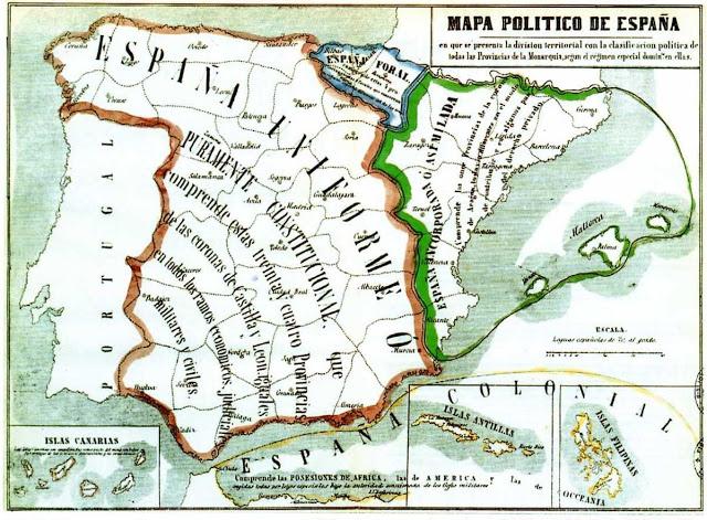 Mapa España 1854