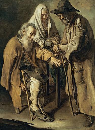 Tres vagabunds, quadre de Giacomo Ceruti, 1736