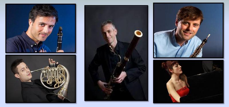 Juan José Pardo, clarinet; Josep Tatay, fagot; Bruno Lucas, oboè; José Francisco Fortea, trompa; Júlia Martínez, piano.
