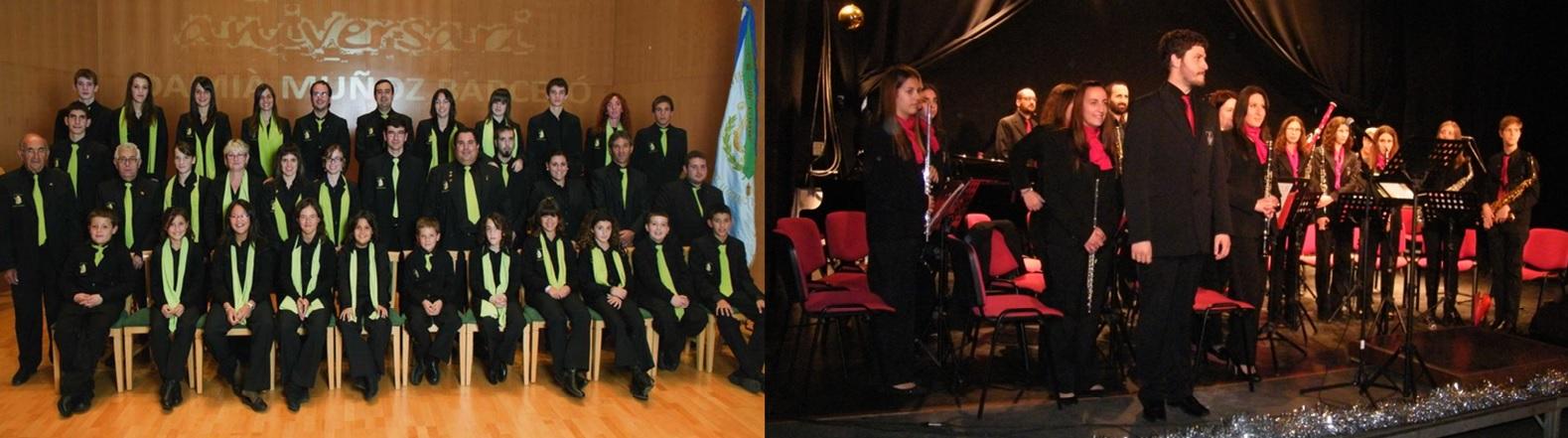 La Banda de Música de Sant Llorenç i la Banda de Música de Son Servera