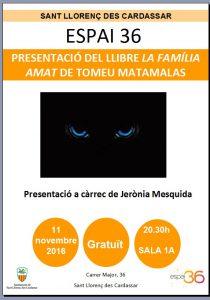 imatge cartell presentació llibre