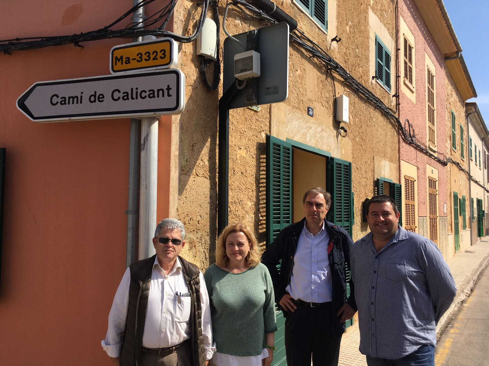 El director insular de carreteres visita Sant Llorenç per conèixer la problemàtica de les travessies